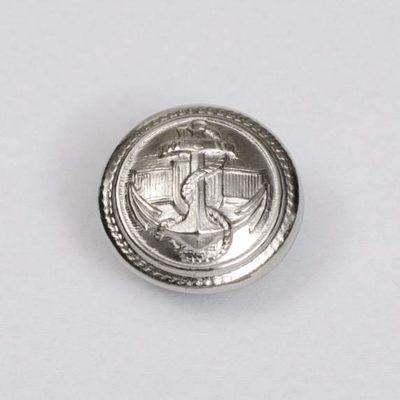 Marynarski guzik wojskowy srebrny śr. 16 mm