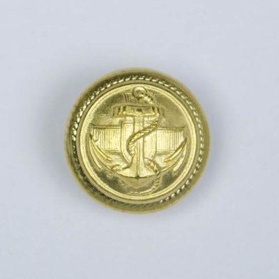 Marynarski guzik wojskowy złoty śr. 16 mm