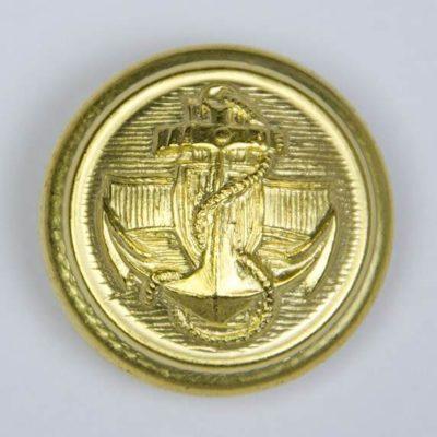 Marynarski guzik wojskowy złoty śr. 25 mm