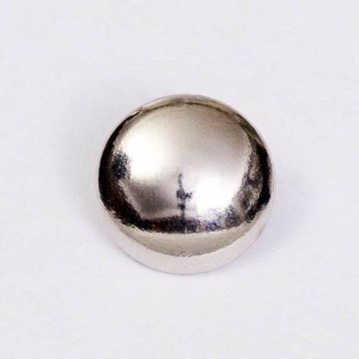 Guzik uniwersalny gładki srebrny śr. 16 mm