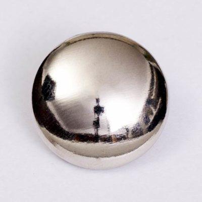 Guzik uniwersalny gładki srebrny śr. 22 mm