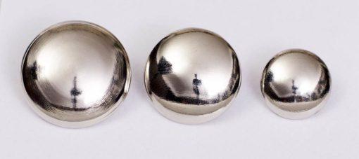 Guzik uniwersalny gładki srebrny śr. 16, 22, 25 mm