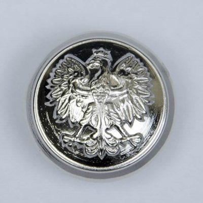 Polski guzik wojskowy z orzełkiem srebrny śr. 22 mm