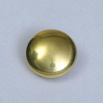 Guzik uniwersalny gładki złoty śr. 16 mm