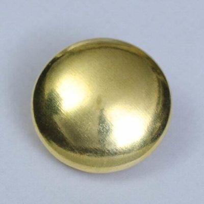 Guzik uniwersalny gładki złoty śr. 22 mm