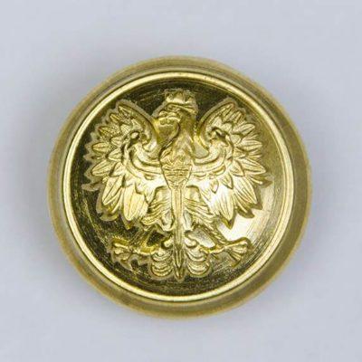 Polski guzik wojskowy z orzełkiem złoty śr. 22 mm