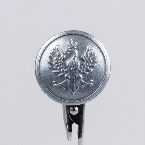 Polski guzik wojskowy wzór 1917 z orzełkiem śr. 25 mm