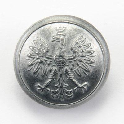 Polski guzik wojskowy wzór 1928 z orzełkiem cyna śr. 25 mm