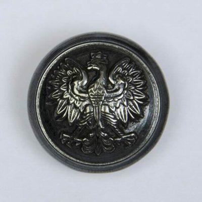 Polski guzik wojskowy z orzełkiem czarny śr. 22 mm