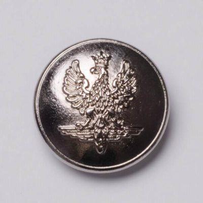 Polski guzik kolejowy współczesny srebrny śr. 22 mm