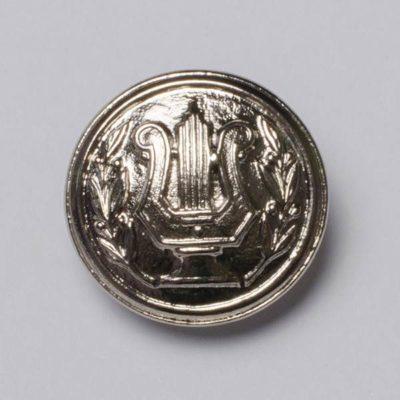 Guzik muzyczny srebrny śr. 22 mm