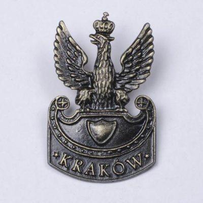 Polski Orzełek Legionowy wz. 1919 napis Kraków, na pin