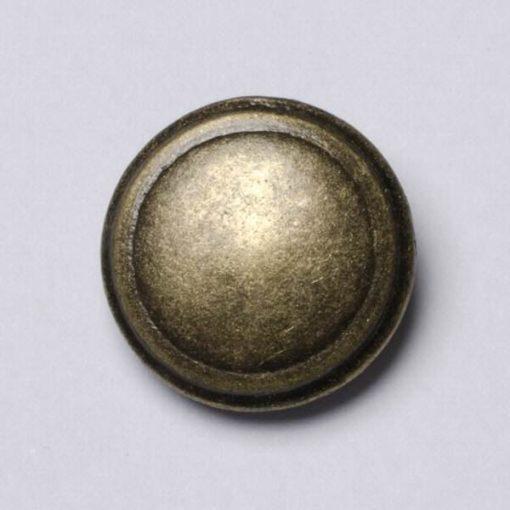 Guzik uniwersalny gładki kolor stary mosiądz śr. 21 mm