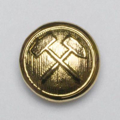 Przypinka górnicza 21 mm na pin, kolor złoty