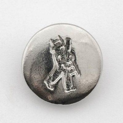 Kominiarski guzik do mundurów srebrny śr. 19 mm
