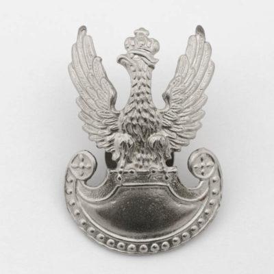 Polski Orzeł Wojskowy wz. 1919 kolor srebrny na śrubkę