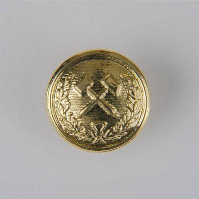 Górniczy guzik historyczny, kolor złoty śr. 19 mm