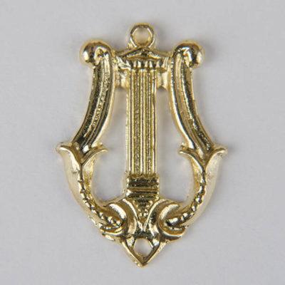 Korpusówka muzyczna do munduru, kolor złoty, do przyszycia