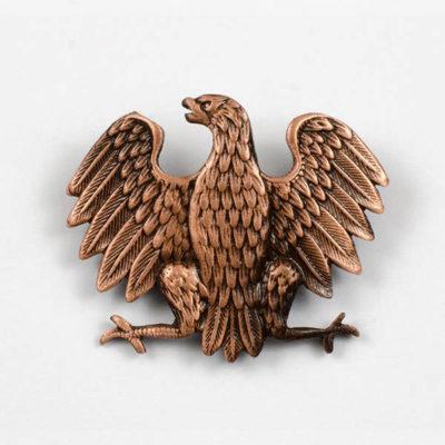 Kurica Polski Orzeł Wojskowy wz. 1943 na czapkę, stara miedź, śruba