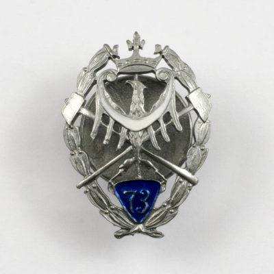 Oficerska Odznaka pamiątkowa 73 Pułku Piechoty – Katowice wz. 1925