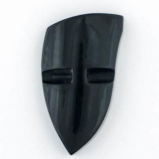 Guzik ozdobny akrylowy czarno-brązowy z elementem ozdobnym 42x27 mm