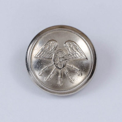 Polski guzik tramwajarski srebrny 25 mm