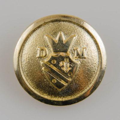 Guzik z herbem i koroną kolor złoty śr. 27 mm