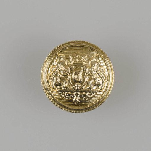 Guzik z herbem kolor złoty śr. 16 mm