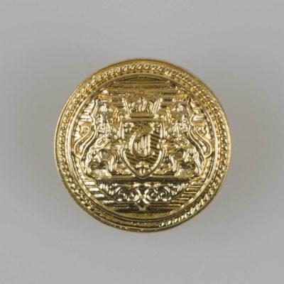 Guzik z herbem kolor złoty śr. 22 mm