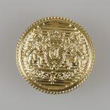 Guzik z herbem kolor złoty śr. 25 mm