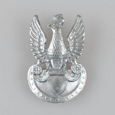 Polski Orzełek Legionowy wz. 1919, wygięty, kolor cyna