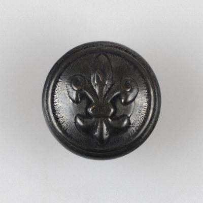 Guzik harcerski ZHP z lilijką czarny oksydowany śr. 16 mm