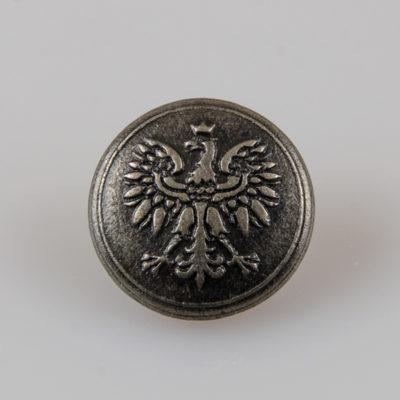 Policyjny guzik administracyjny z orłem kolor patyna śr. 16 mm