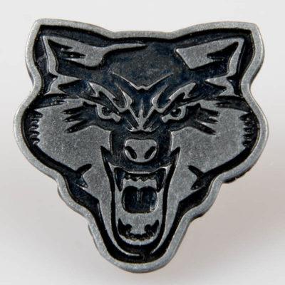 Wilk Żołnierze Wyklęci przypinka pin kolor stare srebro