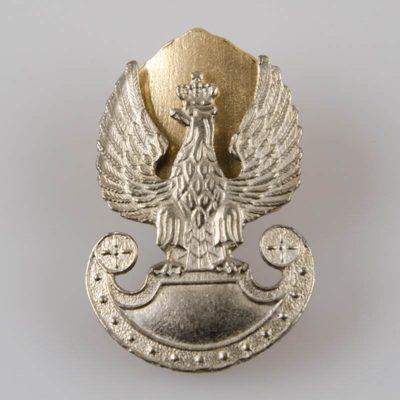 Orzeł Wojsk Lądowych Rzeczypospolitej Polskiej z rozetą kolor srebrny na śruby