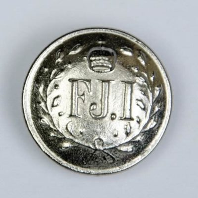 Austro-węgierski guzik Franciszek Józef I śr. 21 mm, kolor srebrny