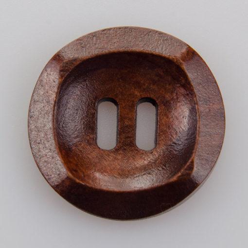 Guzik drewniany Podłużne 2 dziurki brąz