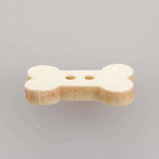 Guzik drewniany Psia kość 2 dziurki DIY