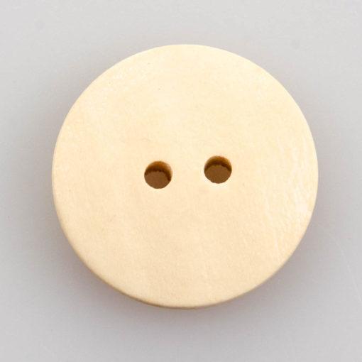 Guzik drewniany 2 dziurki z serduszkiem 20 mm MIX