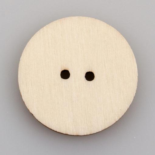 Guzik drewniany Myśl pozytywnie 2 dziurki 6 wzorów MIX