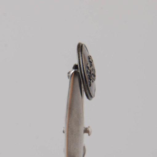 Guzik z herbem i dwoma lwami kolor stara miedź śr. 16 mm