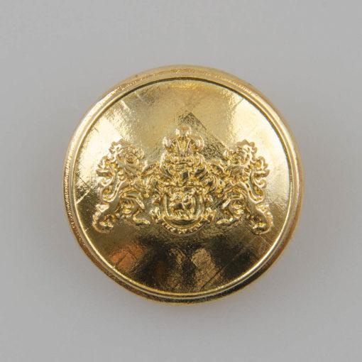 Guzik z herbem i dwoma lwami kolor złoty śr. 25 mm