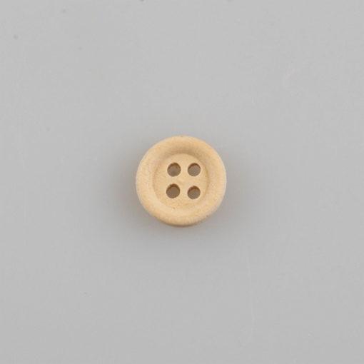 Guzik drewniany z obrzeżem 2 mm, 2 dziurki, śr. 10 mm DIY
