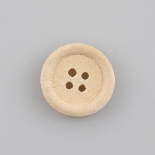 Guzik drewniany z obrzeżem 3 mm, 2 dziurki, śr. 20 mm DIY