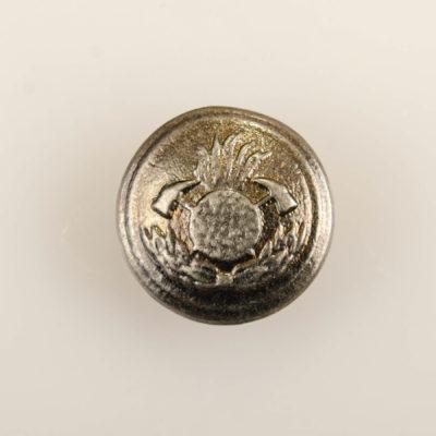 Polski guzik strażacki wz. 1930, stare srebro śr. 15 mm