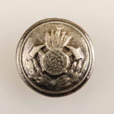Polski guzik strażacki wz. 1930, stare srebro śr. 21 mm