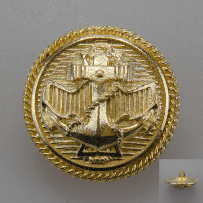 Marynarski guzik wojskowy wzór 2019 złoty śr. 25 mm