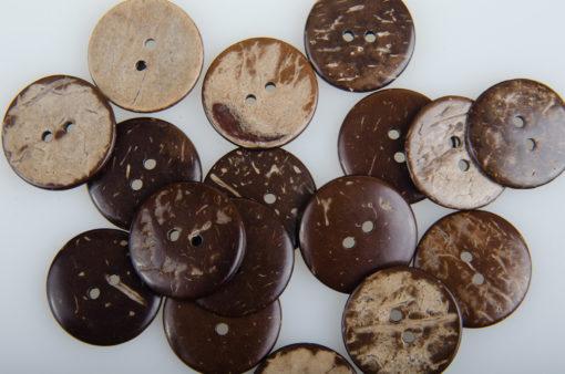Guziki kokosowe do przyszycia 22 mm