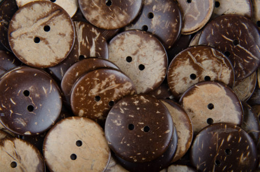 Guziki kokosowe do przyszycia 25 mm
