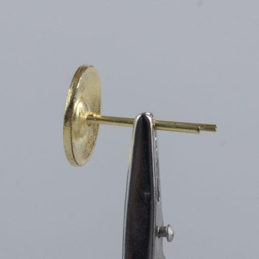 Kolejowy polski guzik współczesny złoty śr. 16 mm na wąsy